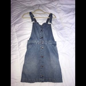 Button-up overall dress